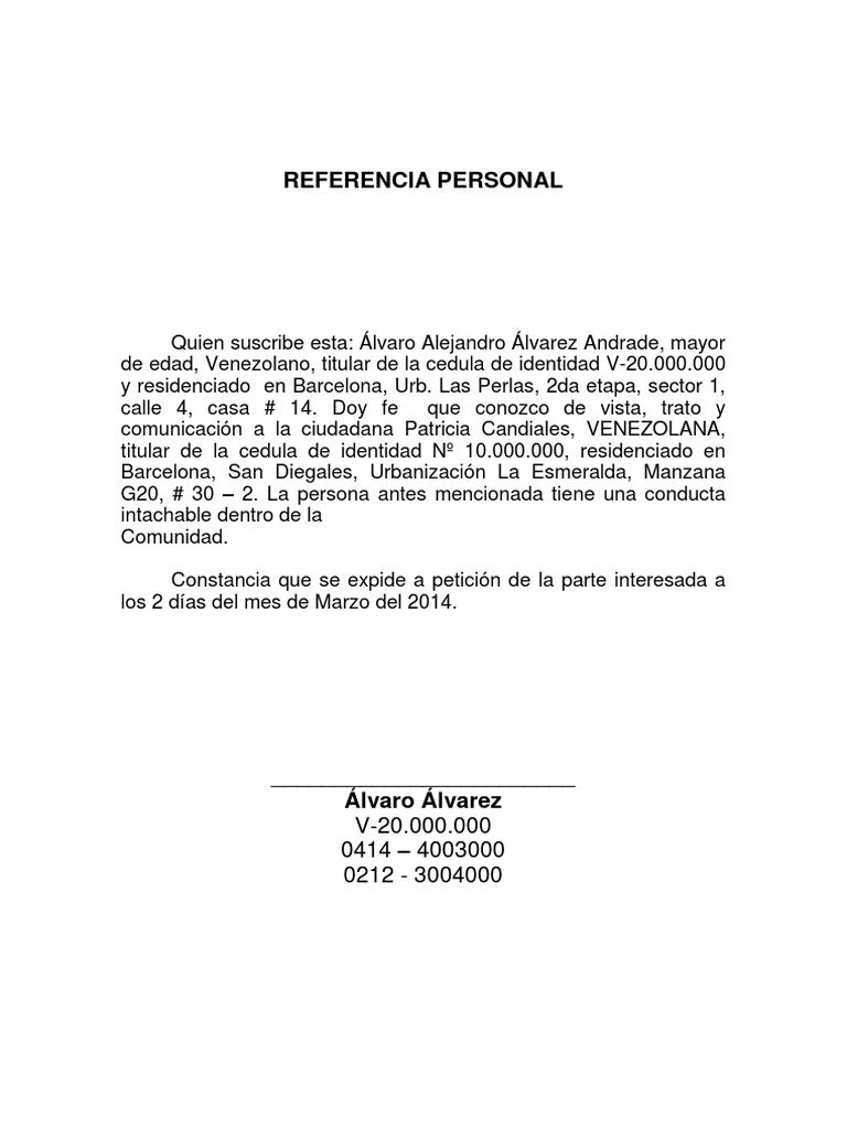 I'm reading Referencia Personal on Scribd | documento ... - photo#43