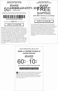 free Joann coupons for april 2017