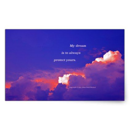 Thunder Clouds #2 with poem: Staying With Me #2 Rectangular Sticker - love gifts cyo personalize diy