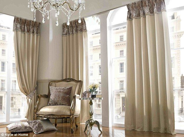 Curtains By Kylie Pop Princess Turns Her Hand To Interior Design With New Range Of Disco Drapes