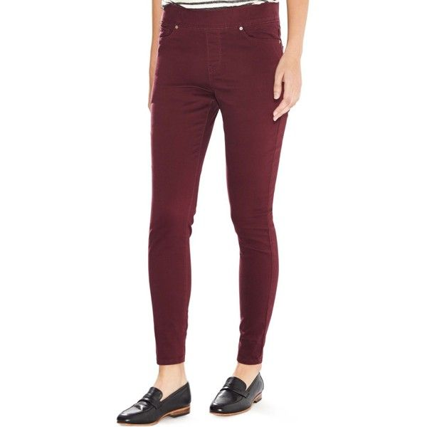 Levi's Perfectly Slimming Pull-On Leggings, Merlot Wash ($55) ❤ liked on Polyvore featuring pants, leggings, merlot, jean leggings, levi trousers, pull on pants, levi's and slim trousers