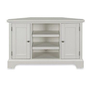 home styles naples corner tv stand in white bedbathandbeyond com rh pinterest ie