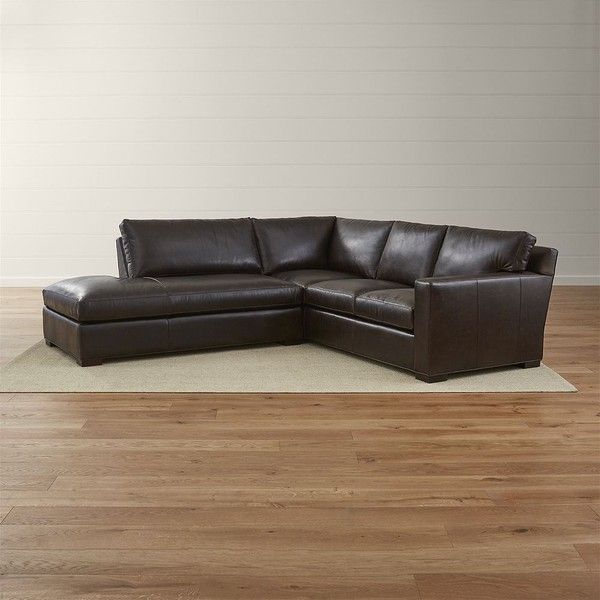Crate Barrel Axis Ii Leather 2 Piece Sectional Sofa 6 498 Liked On Polyvore Featuring Home Furn With Images 2 Piece Sectional Sofa Leather Sectional Sectional Sofa
