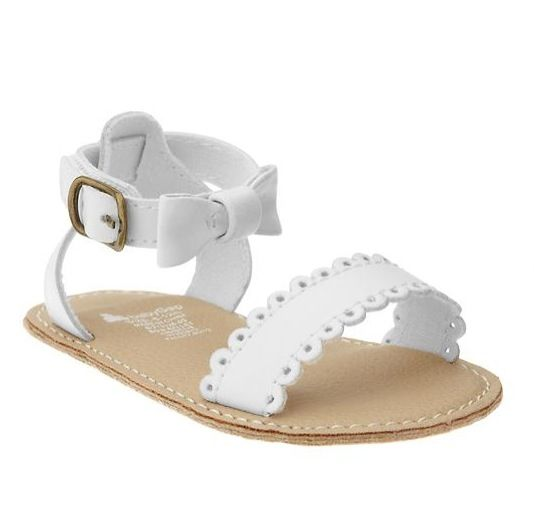 eafa5b1cf Baby Gap white leather sandals for my baby girl❤
