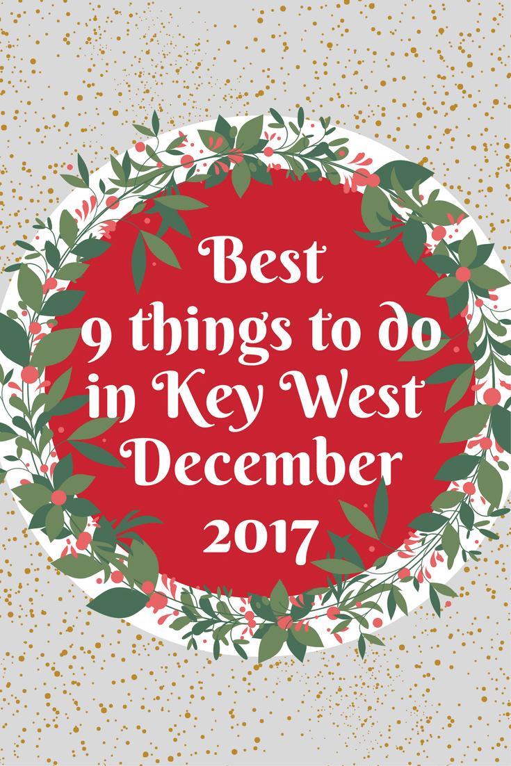 December 2017 pinterest graphic Key west, Stuff to do