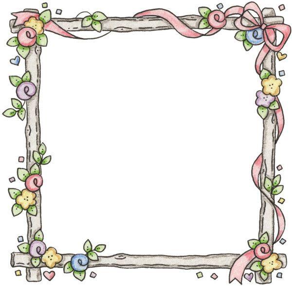 Marco cuadrado de lazos y flores   PLANTILLAS   Pinterest   Picasa ...