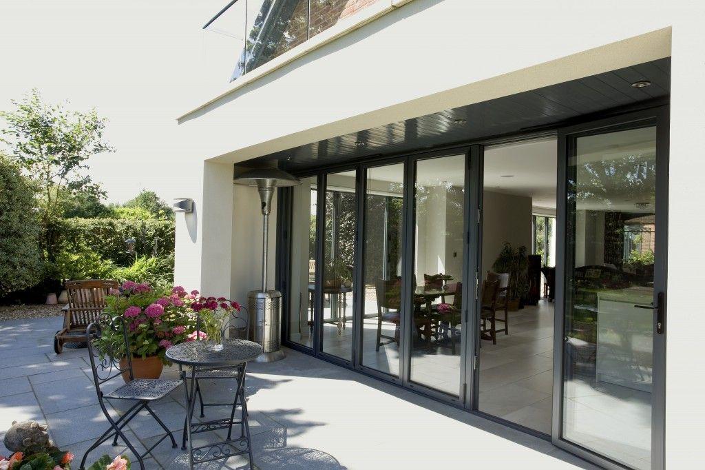 Open Plan Style Bi Fold Doors Kitchen Conservatory Ideas Pinterest Bi Fold Doors Open