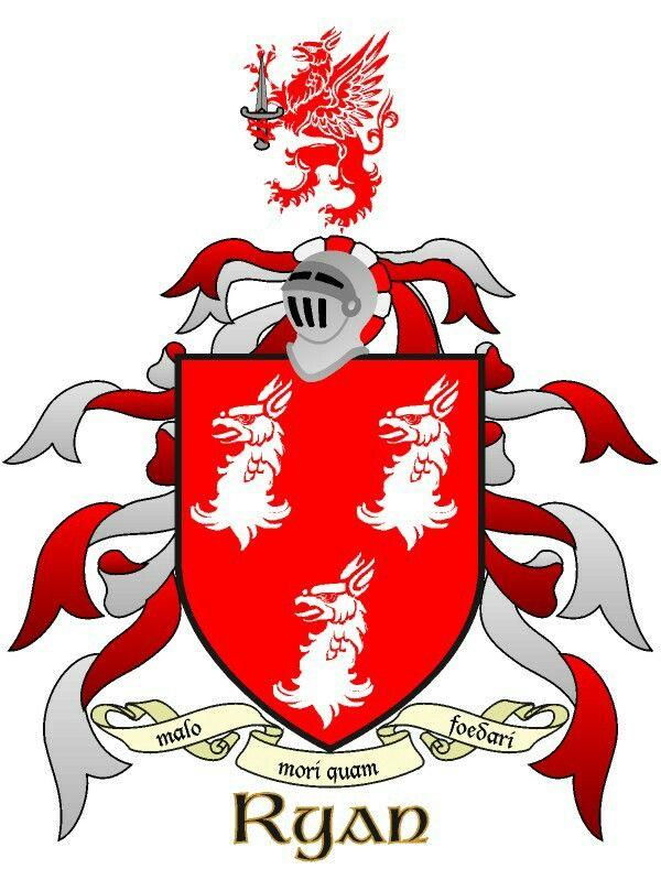 Ryan Family Crest - Irish Heraldry Surnames