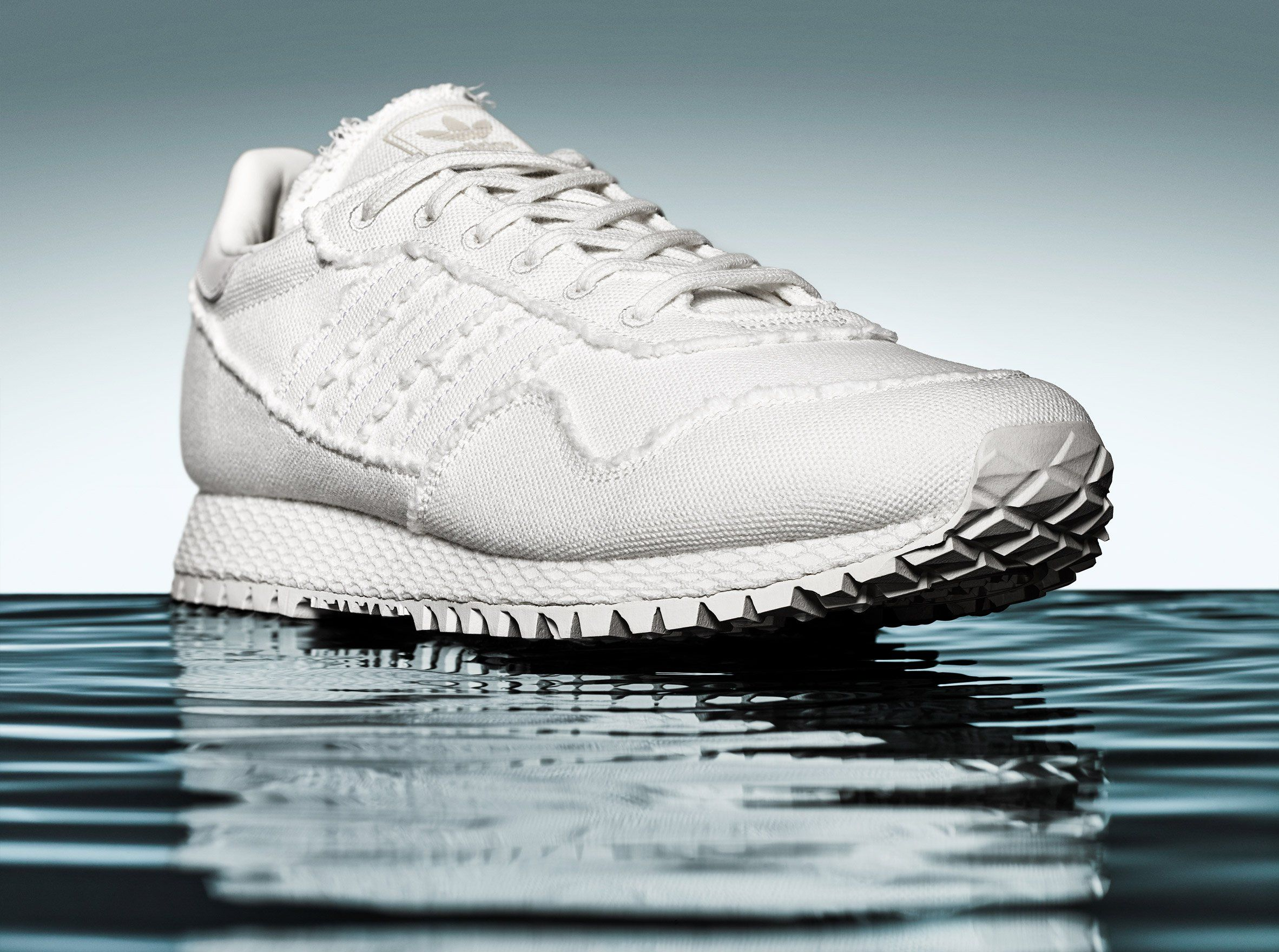 Daniel Arsham bases all white Adidas trainers on
