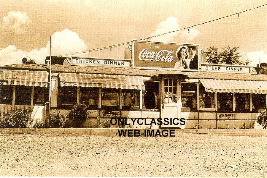 coke diner sign | 1930's Diner Coca Cola Coke Sign Roadside America Photo | eBay