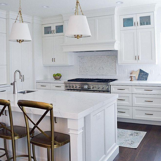 The white quartz countertops are Pental Quartz in Avenza. | House ...