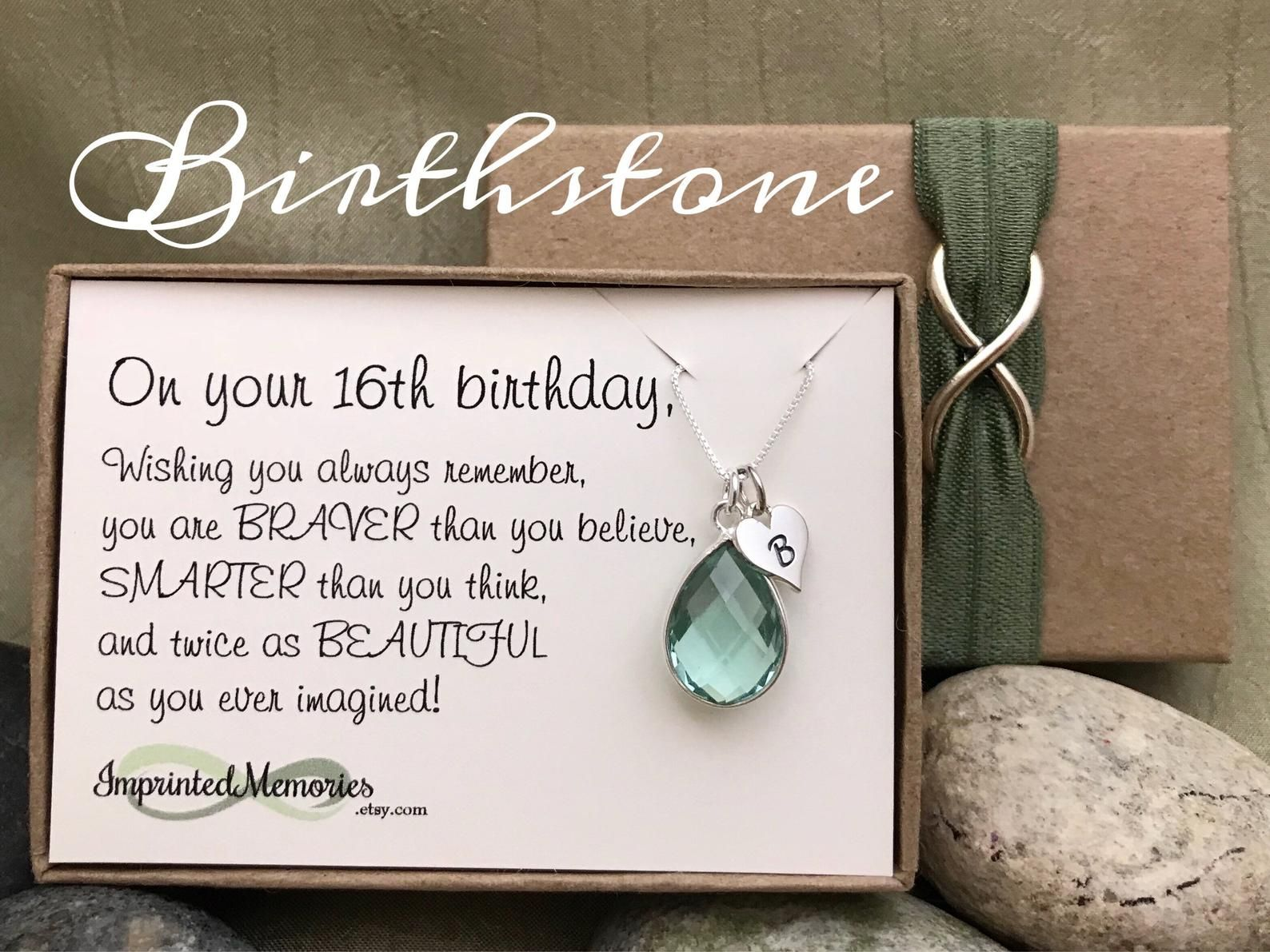 16th Birthday gift for Her Birthday Sweet 16 Birthday Gift