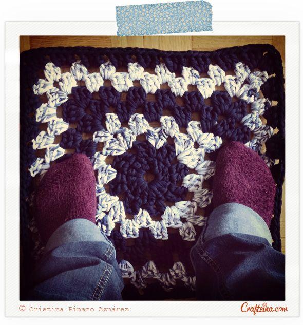 Rag Rug Stool: Crafteina: Mi Súper Ganchillo XXL My Amazing XXL Crochet