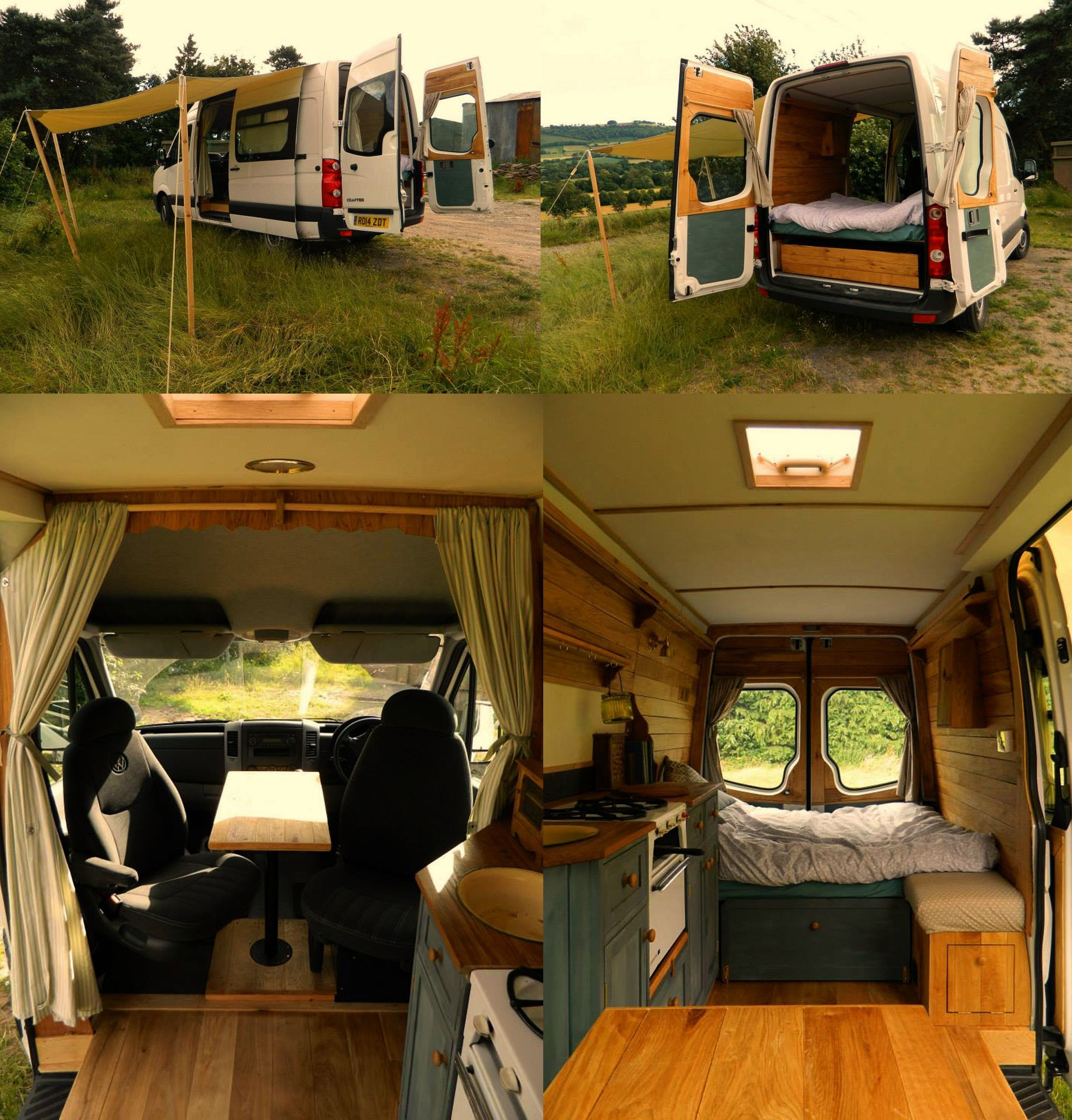 Crafter camper transformation by Rustic Campers. Great interior set up, spacious but not too big, p