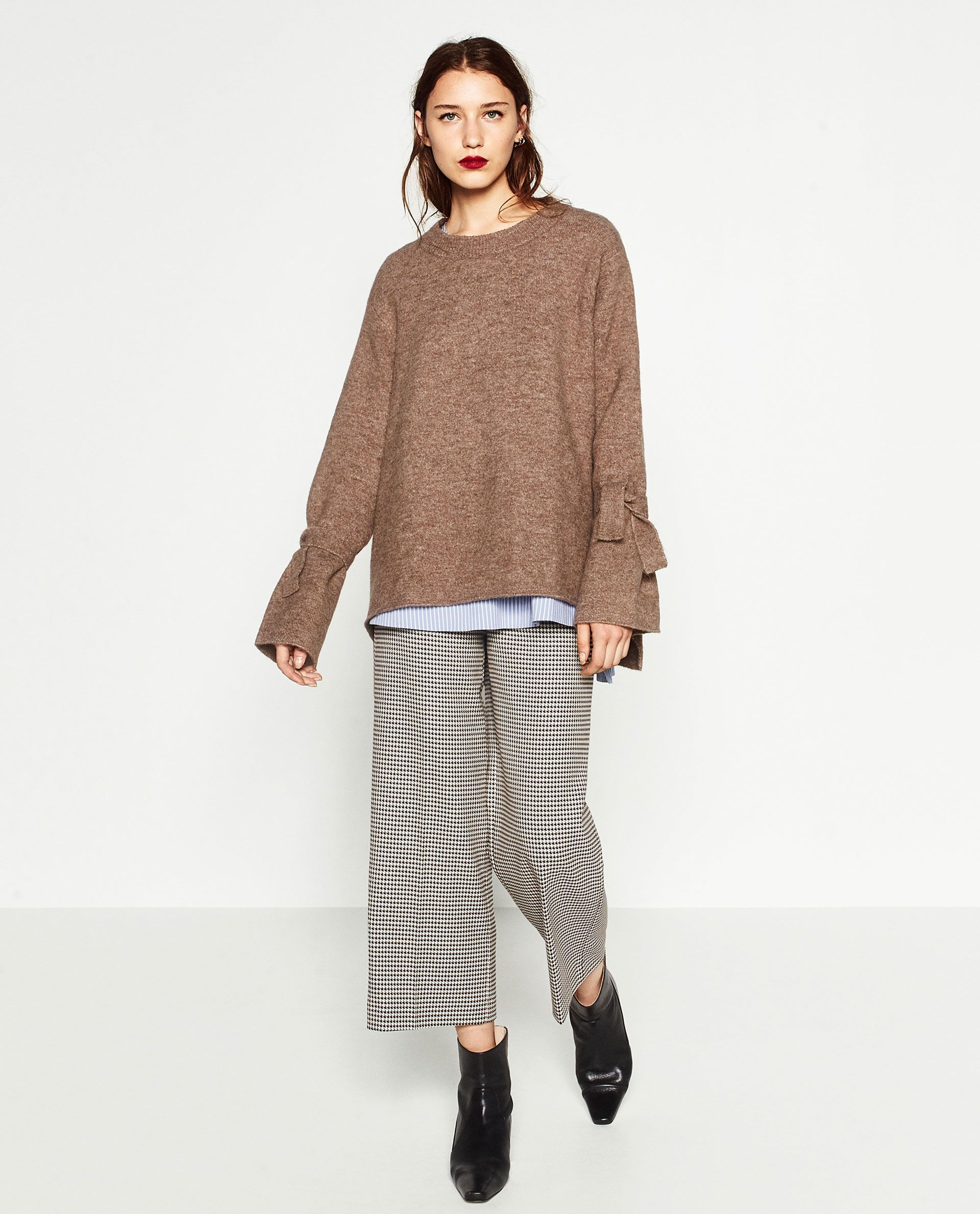 f0d6d2ed12d All of our oversized-sweater dreams are coming true.Zara Sweater with  Detail on Sleeve
