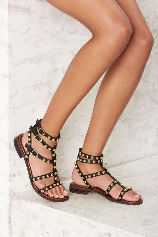 bfd93a956 Sam Edelman Eavan Leather Gladiator Sandal - Black - Shoes | OC ...