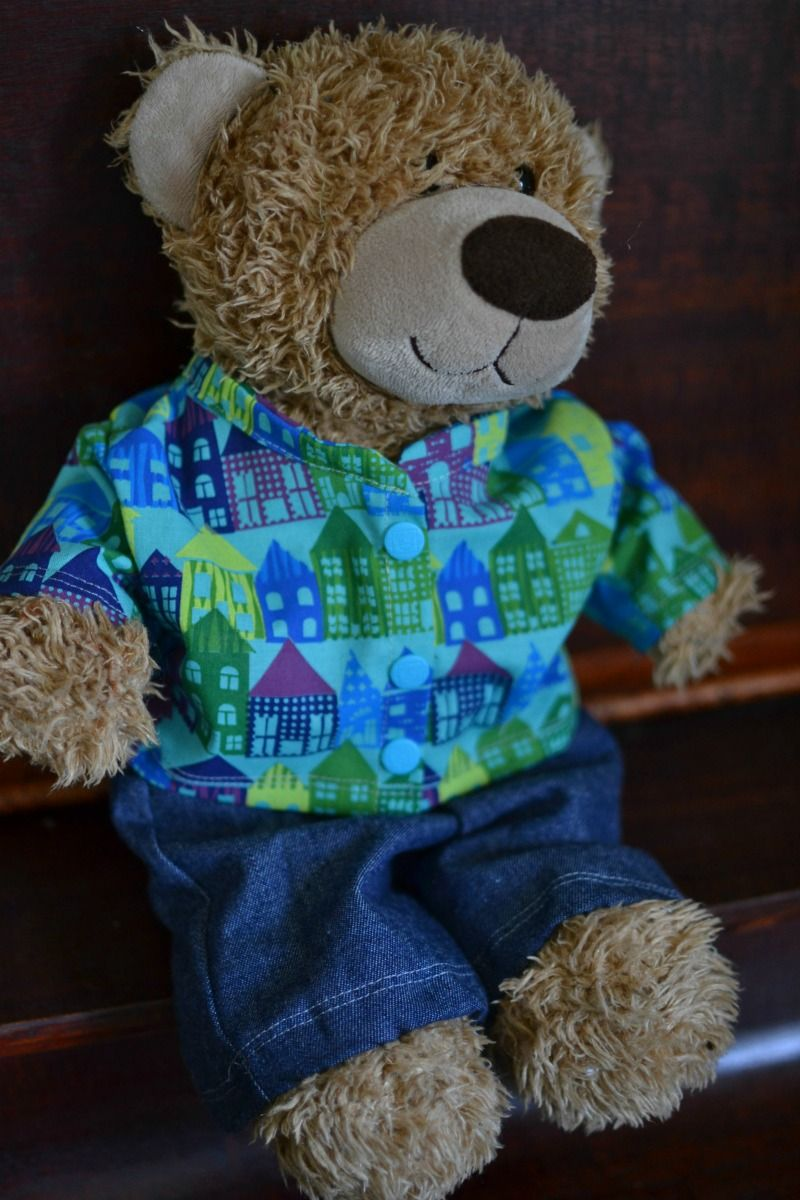 Free Teddy Bear Jacket Pattern For 16in. Bears