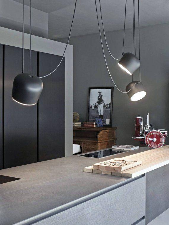 Photo of Moderna lampada a sospensione a sospensione in bianco e nero illuminazione a sospensione lampadario da cucina lampada da pranzo cucina a isola a luce lampadario illuminazione moderna