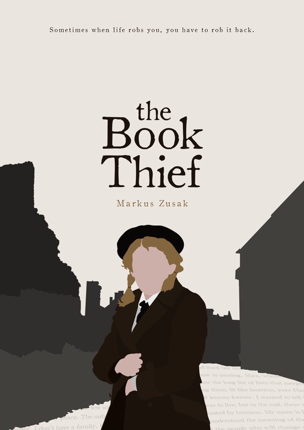 The Book Thief cover redesign by Alicia Mundy | MOVIES! | Pinterest