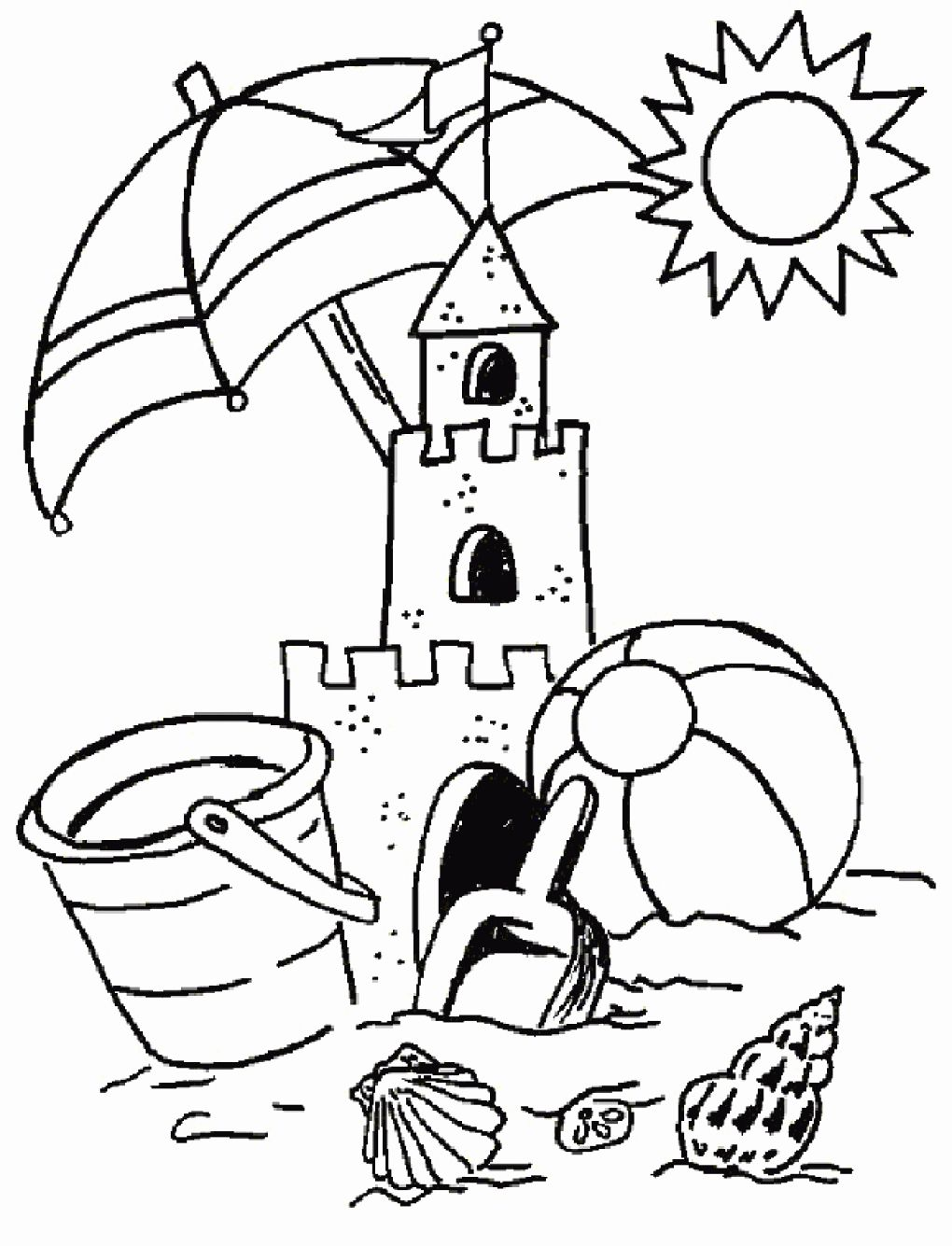 Sand Castle Coloring Page Best Of Coloring Pages Of Summer Holiday