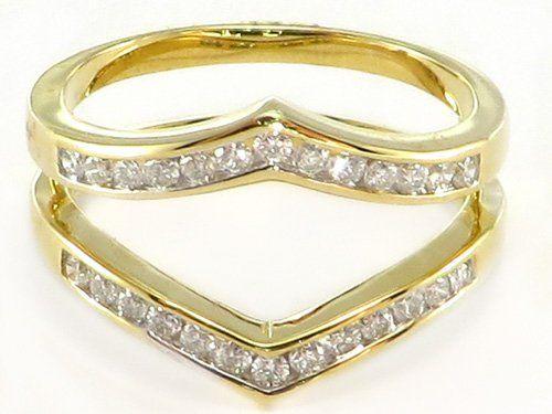 35 ctw Diamond Ring Wrap Guard Enhancer Insert 14k Yellow Gold