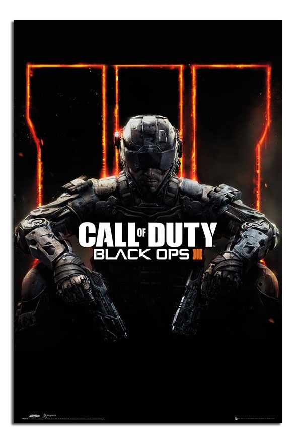 Maxi Poster 61cm x 91.5cm new and sealed Call of Duty Black Ops 3 Cover