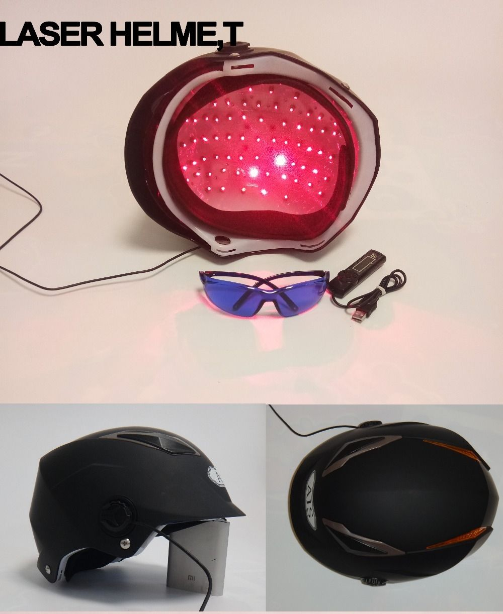 Lllt Therapy For Hair Loss Treatment 650nm 68 Diode Laser Helmet Regrowth