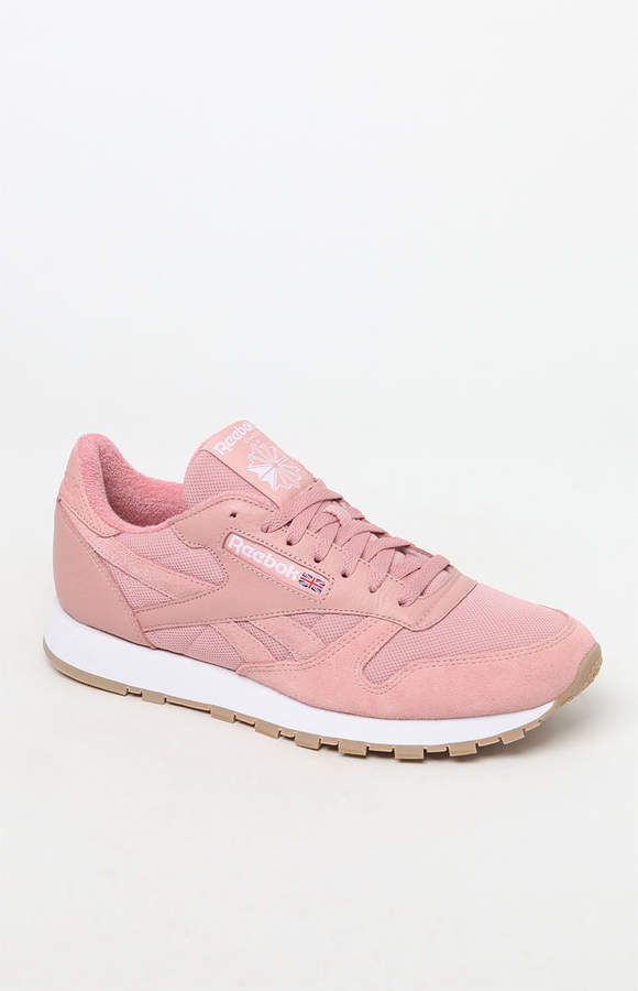 932adbbf3a5923 Reebok Classic Leather Pink and White ESTL Shoes