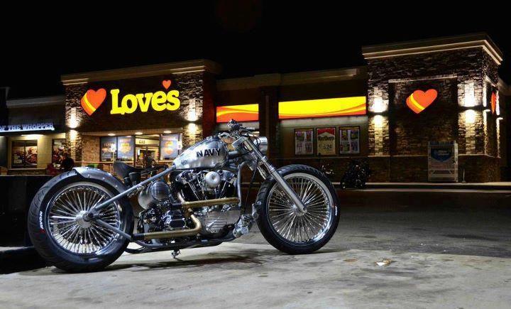 Nice bike, truck stop