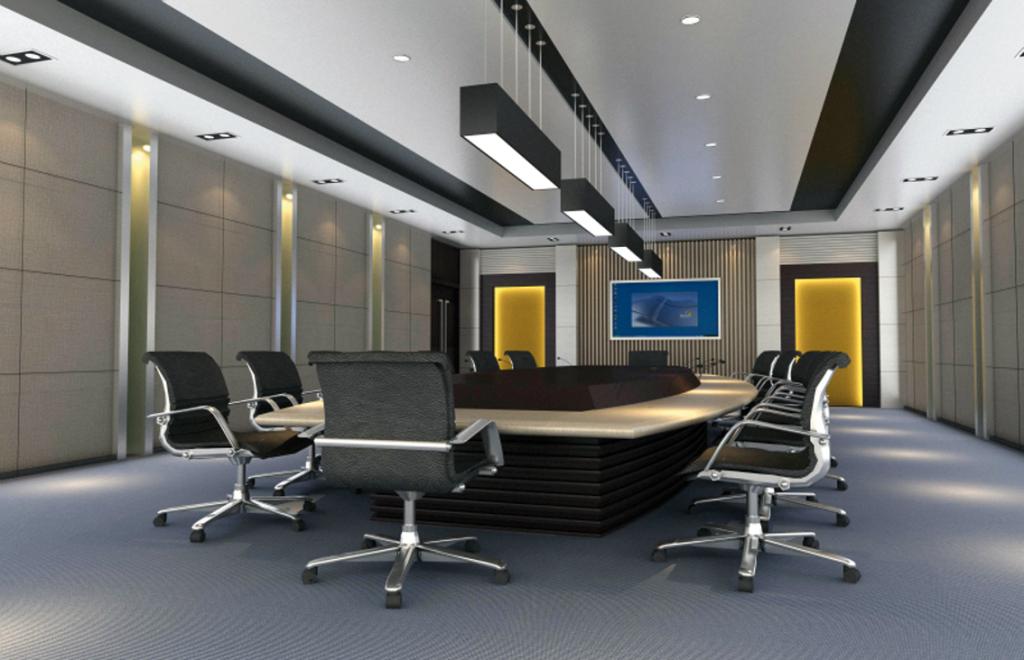 Dise o de interiores de oficinas modernas oficina for Decoracion de interiores oficinas