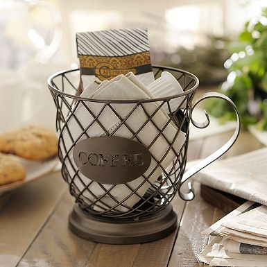 Coffee Cup Basket Break Pinterest Storage Bo And Decorative