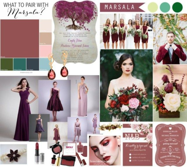 Marsala Wedding Mood Board #weddings #weddingtrends