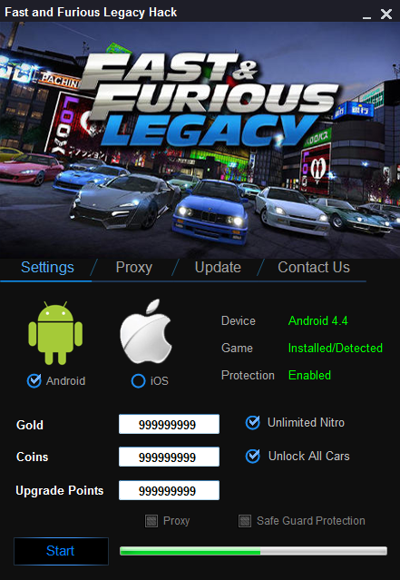 fast and furious legacy mod apk offline
