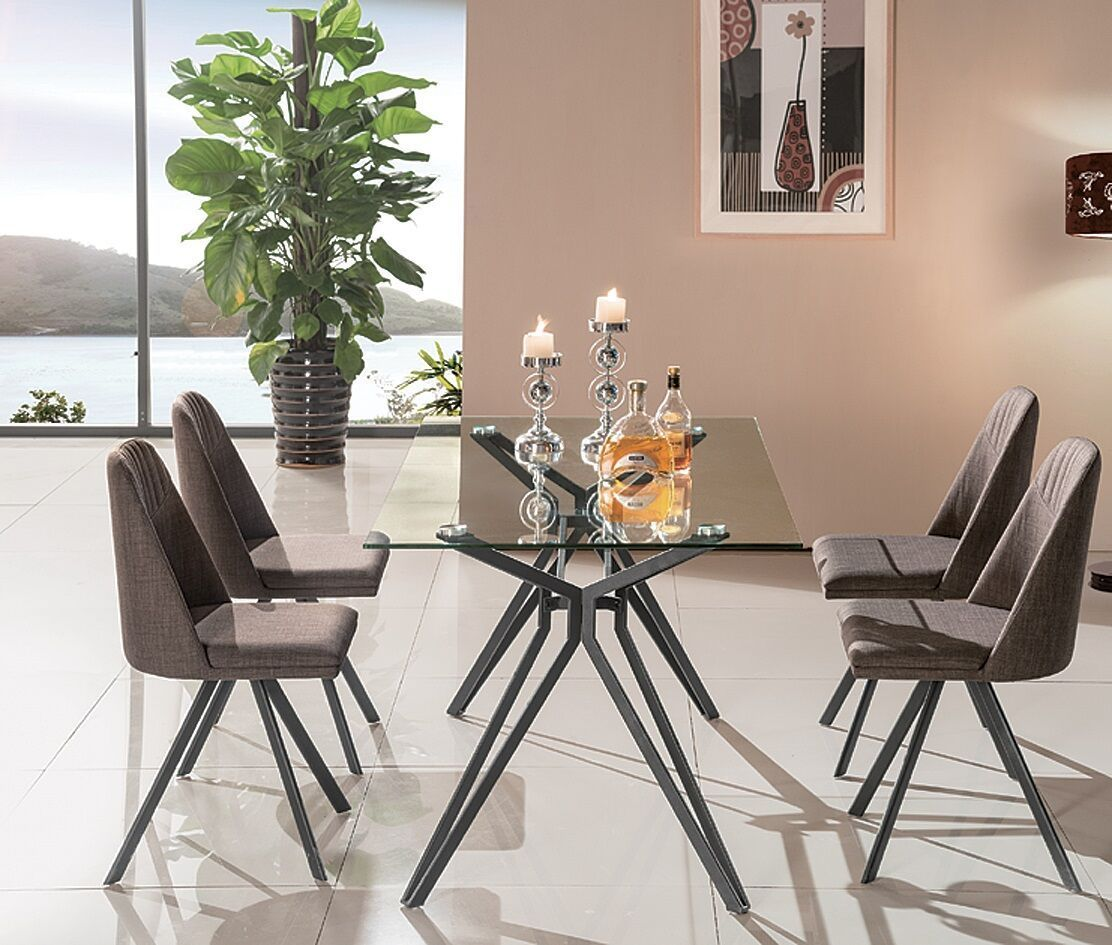 Fresno Table 18226 J M Dining Room Sets Side Chairs Dining Glass Top Dining Table Dining Chairs