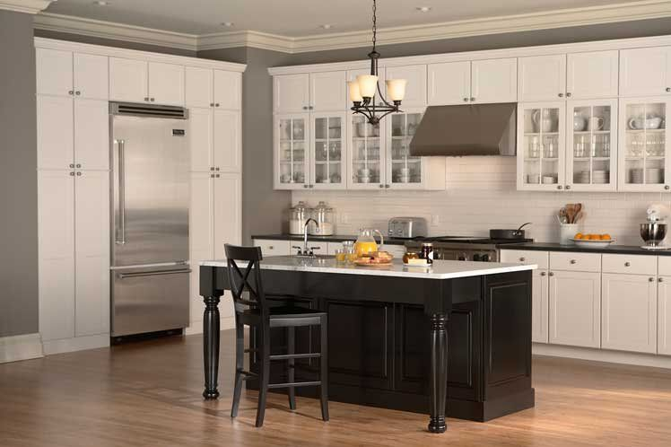 Kitchen Island Against Wall the beautiful island-shaped transitional kitchen design features