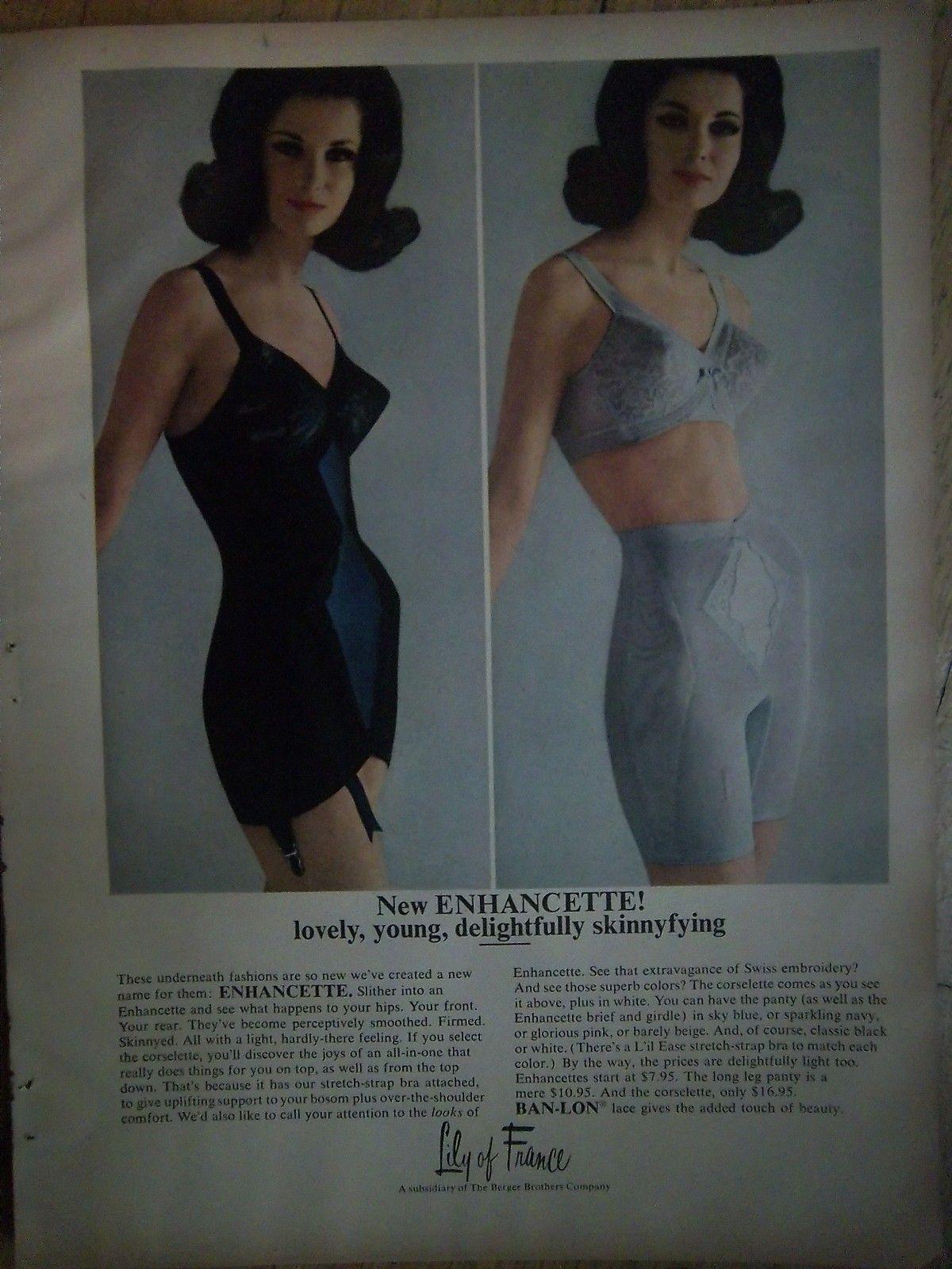 d2266052ea 1964 Vintage Lily of France Enhancette Corselette Long Leg Panty Girdle  Color Ad