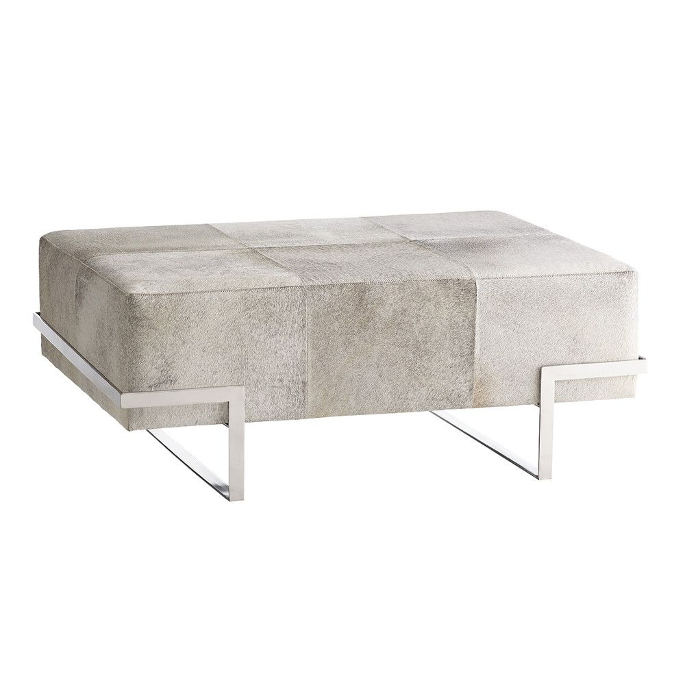 Hair On Hide Ottoman New Furniture Rectangle Ottoman Coffee Table [ 1000 x 1000 Pixel ]