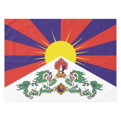 Flag Of Tibet Or Snow Lion Flag Tablecloth Zazzle Com Snow Lion Country Gifts Beach Towel