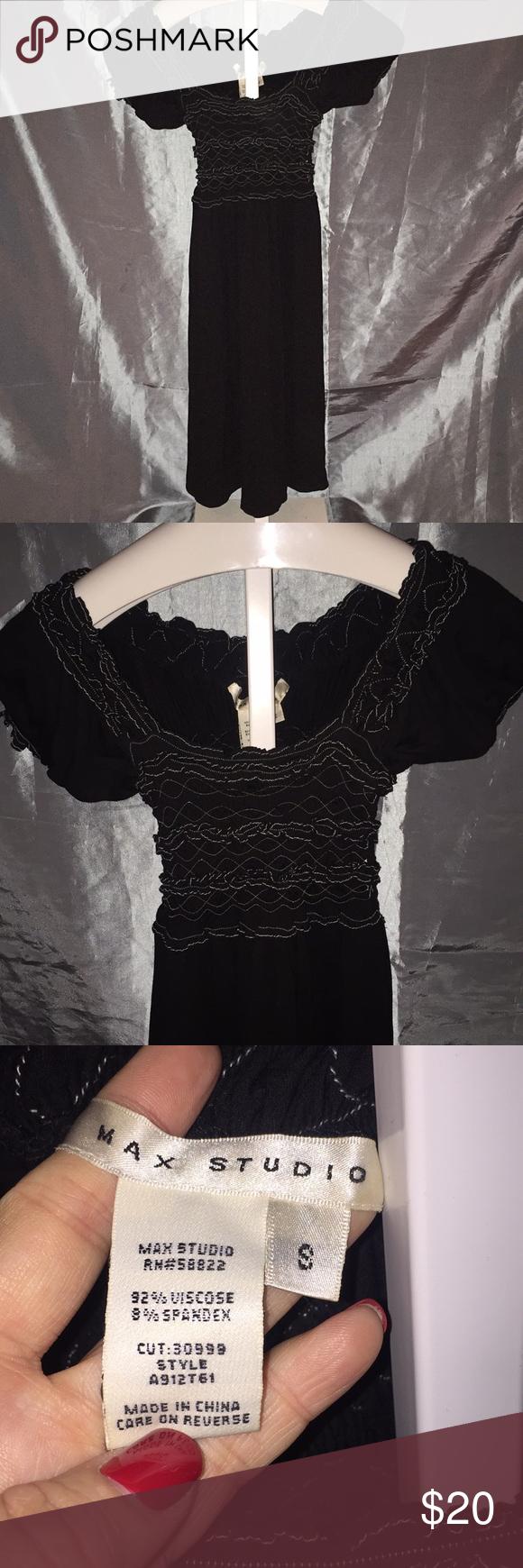 Max Studio Dress Black With Cream Stitching Max Studio Dress Black Dress Dresses [ 1740 x 580 Pixel ]