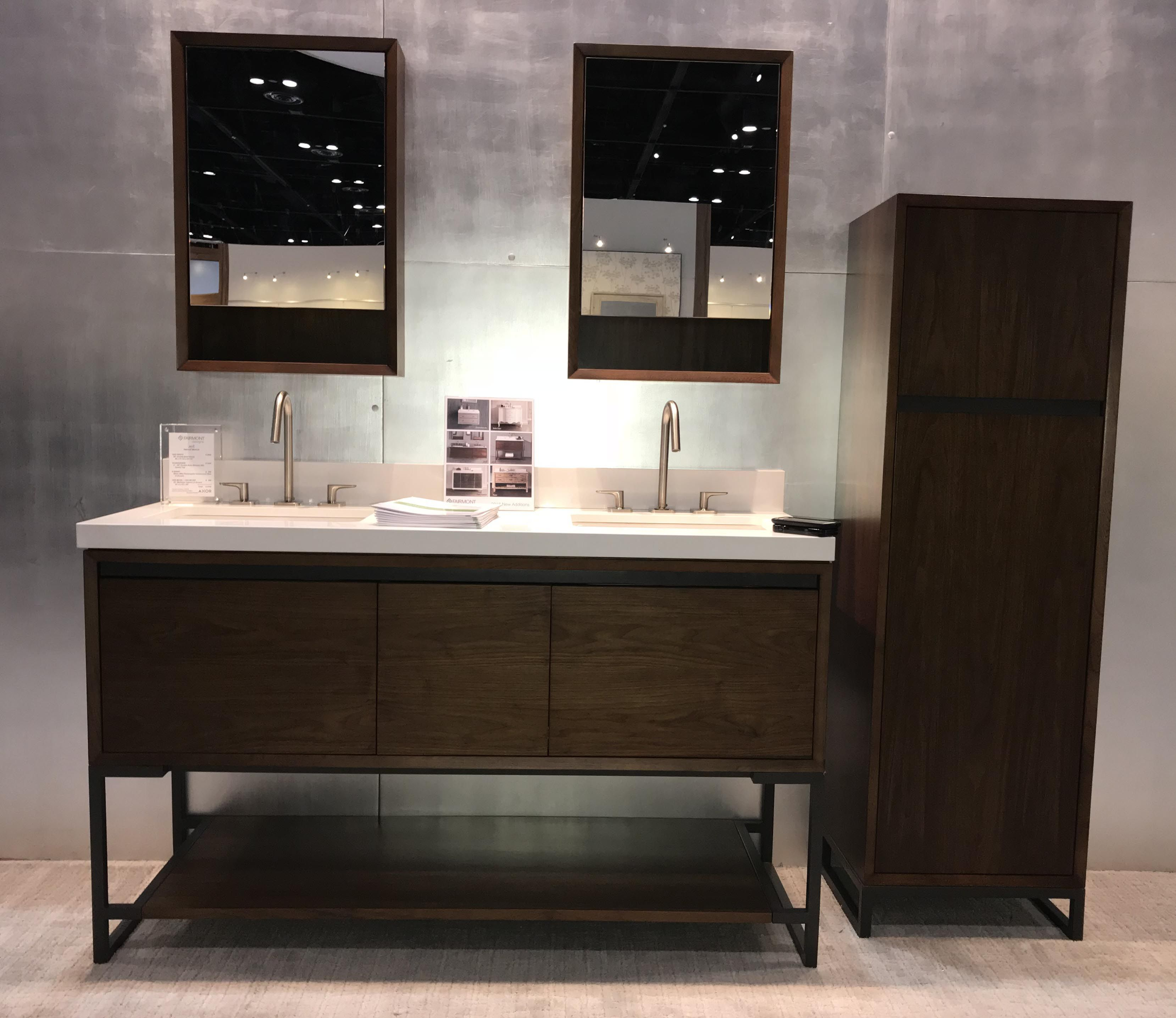 M4 60 Double Bowl Vanity With Storage Cabinet Fdbath Kbis2018