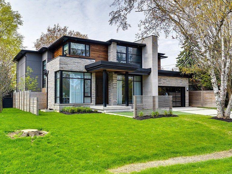 Inex Homes Inc On Instagram Modern Art Deco Elegance With Traditional Design Layout Captured By Bir Modern Art Deco Architecture Design Exterior Design