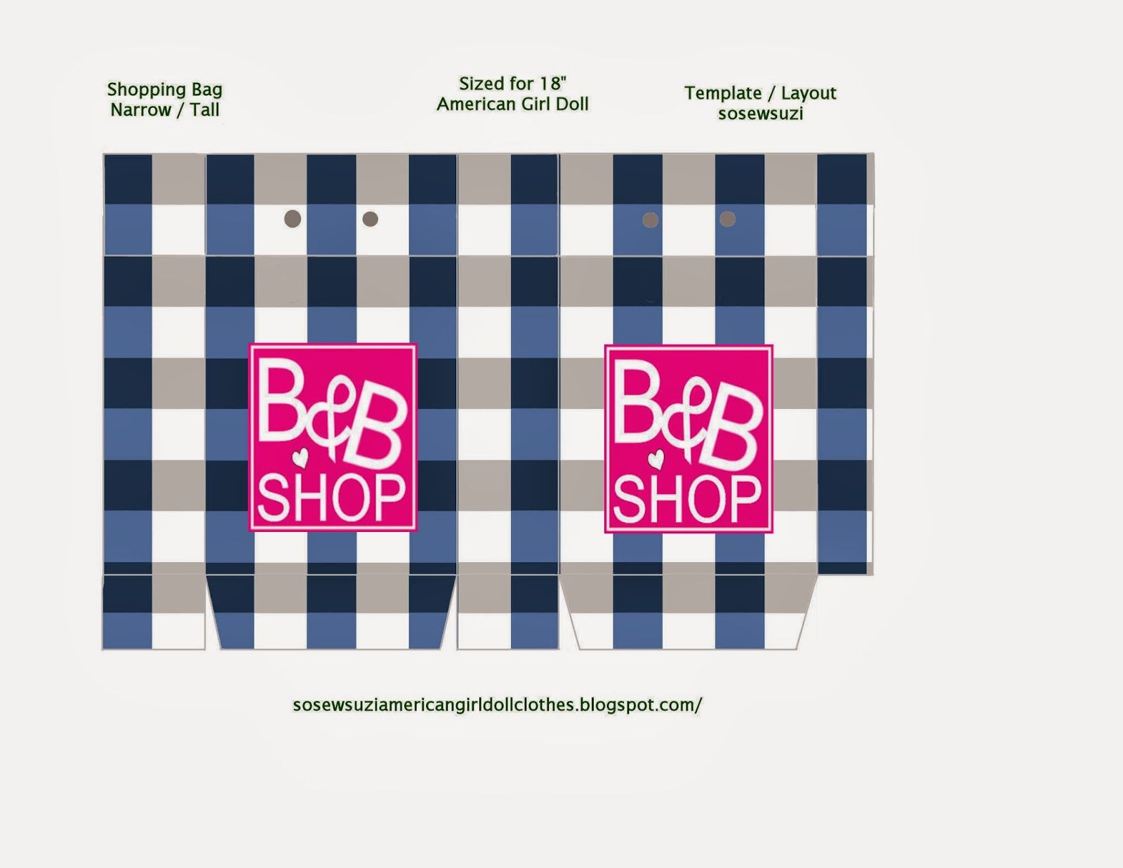 Printable Miniature Shopping Bag