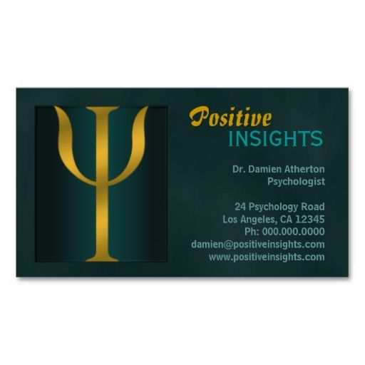 Psychology Psychologist Psychiatry Business Cards Psychiatry - Make your own business cards template