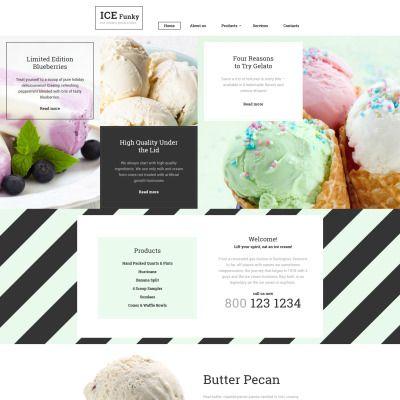 Ice Cream Responsive Website Template | Ice, Cream and Template