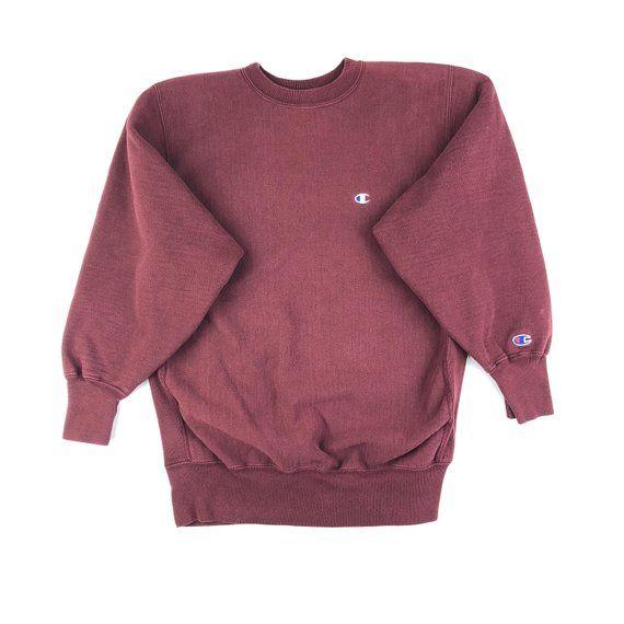 bddbbec90873 Champion Reverse Weave Burgundy Sweatshirt