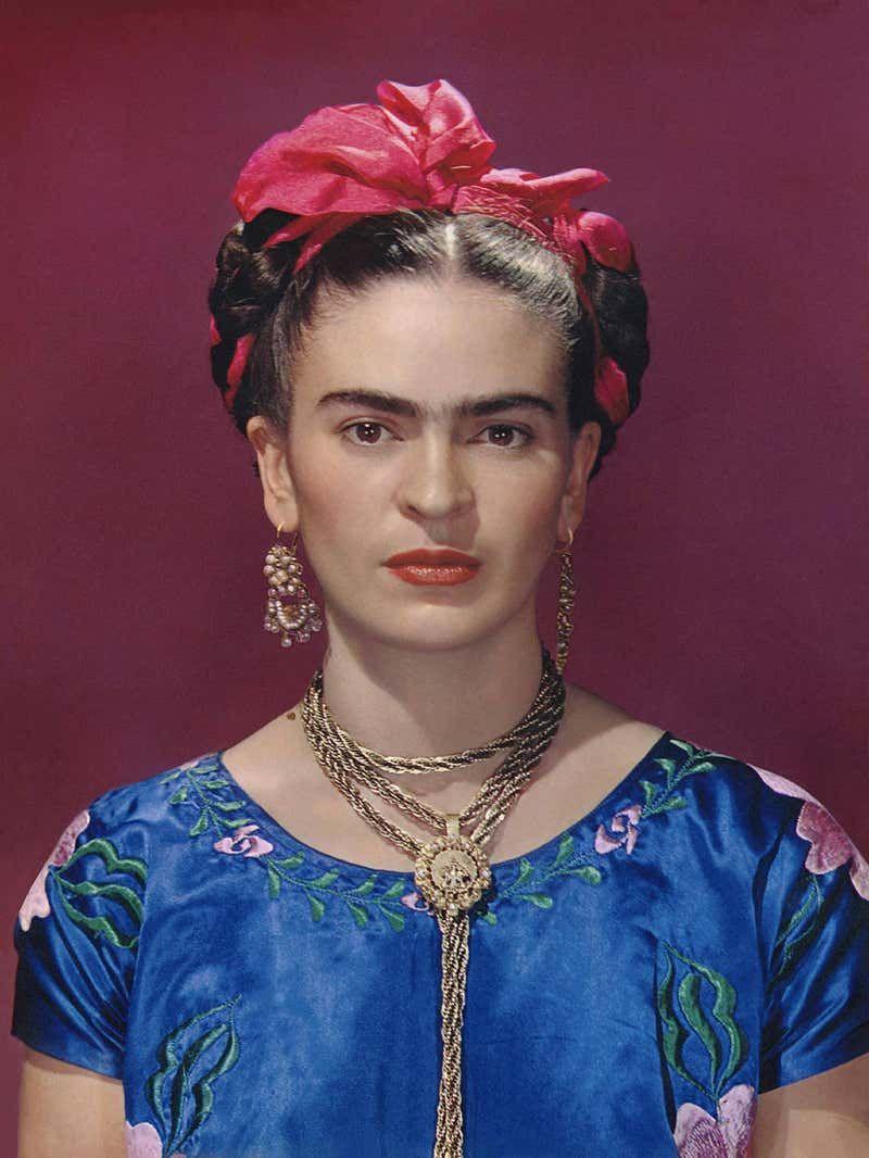 Nickolas Muray Frida Kahlo in Blue Silk Dress