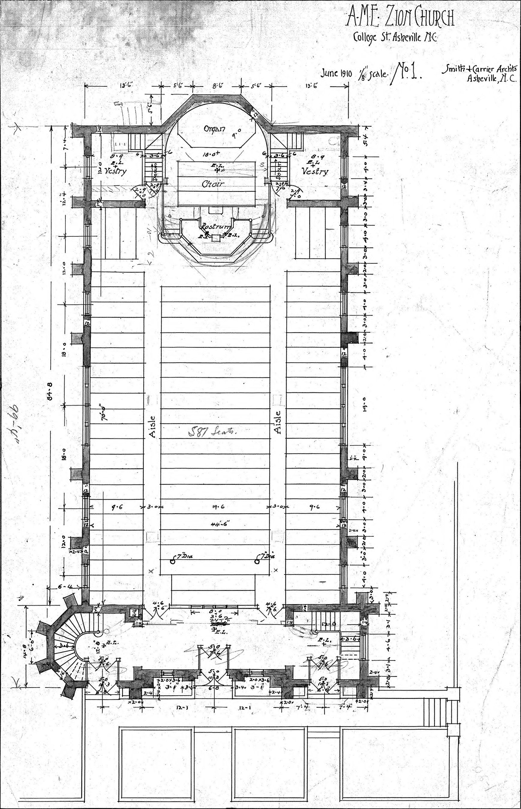 Church floor plans museums architecture pinterest for Small church blueprints