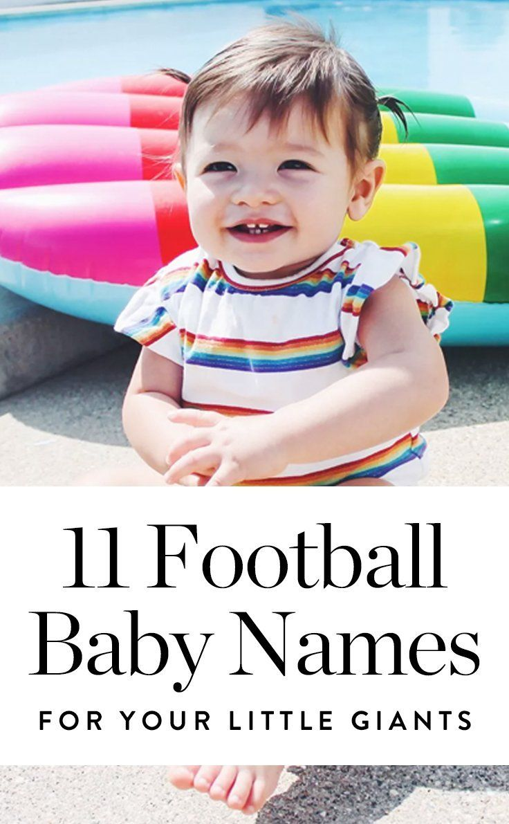 Take your love of the gridiron to the next level by naming your future baby one of these football-inspired baby names. #babynames #football