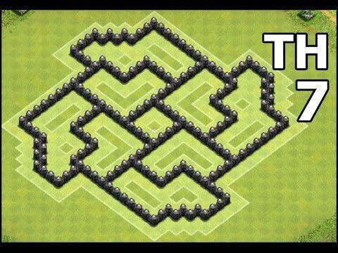 Clash of Clans Town Hall 7 Farming Base | Best CoC TH7 Dark Elixir Pinwheel Defense - YouTube