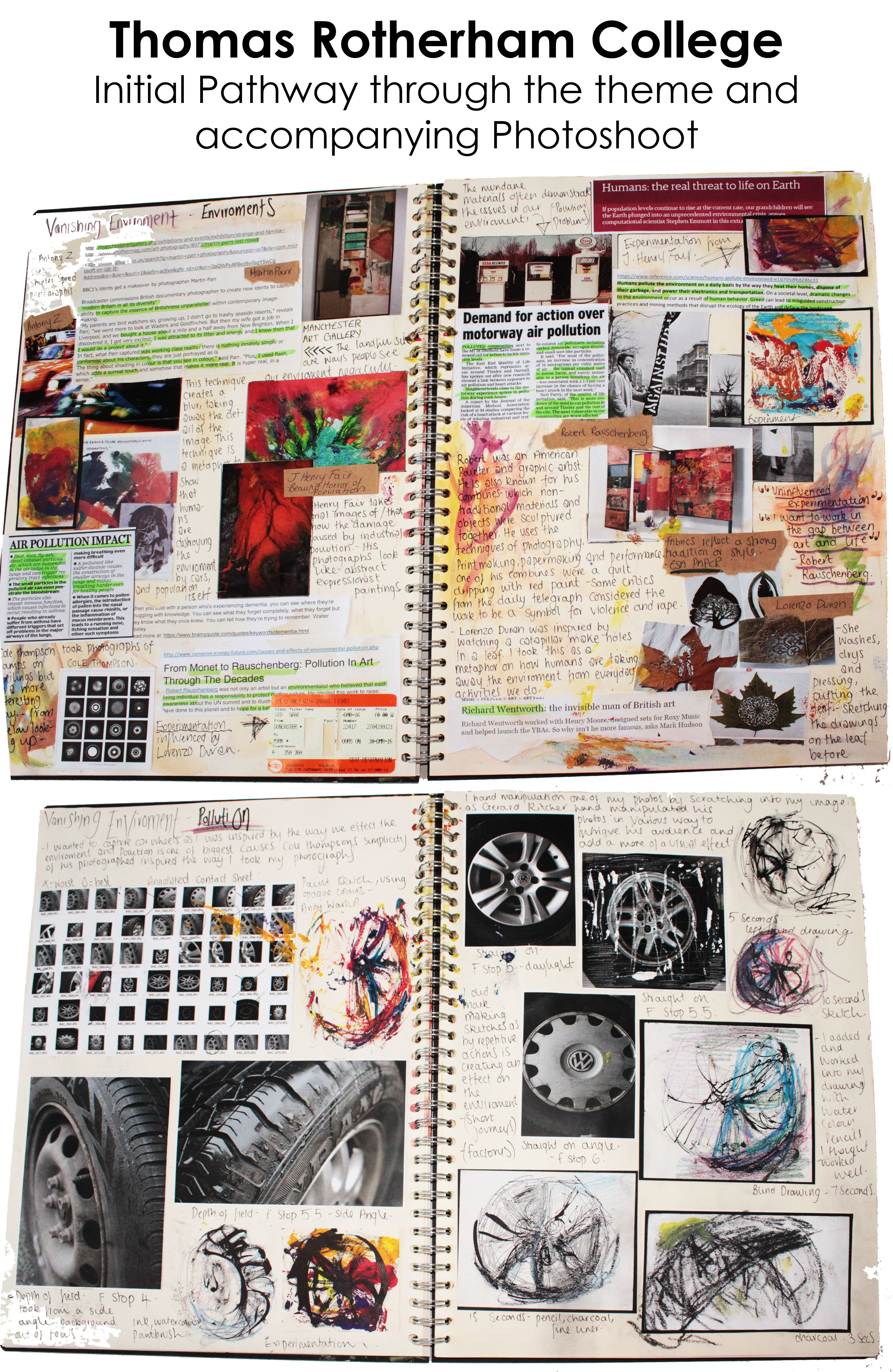 A2 Fine Art A3 Cream Sketchbook Initial Pathway and Photoshoot ESA ...